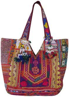 Old handmade Banjara Bag Patchwork Boho bag Vintage tote bag Banjara handmade  handbags
