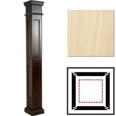 Unique Square Basement Pole Covers