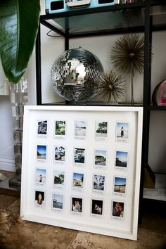 DIY Polaroid Display - Polaroid - Pictures on Wall ideas Polaroid Foto, Polaroid Frame, Polaroids On Wall, Polaroid Display, Frame Display, Polaroid Pictures Display, Display Photos, Photowall Ideas, Decoration Photo