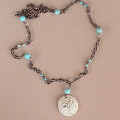 Tree of Life ceramic bead necklace with 28 by lastsummertreasures, $35.00