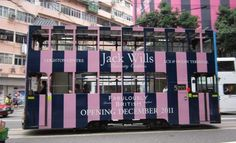 #JackWills pink and blue bus wrap OHMYGOOOOD