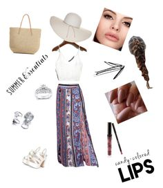 """""""Floral skirt"""" by imcute1550 on Polyvore featuring Target, Nine West and Kobelli"""