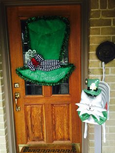 Our front porch 2015 St. Patrick's Day!