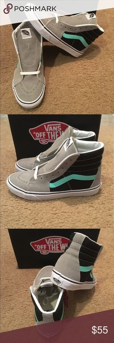 Vans SK8HI Neutral New in box. Gray/black/Cockatoo Vans Shoes Sneakers