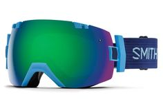 Smith - I/OX Light Blue Goggles, Green Sol-X Mirror Lenses