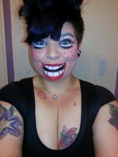 Ventriloquist Doll Кукла Чревовещателя Halloween MakeUp Макияж ...