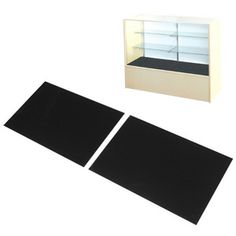 """Display case pad 48""""-Enhance your merchandise display by adding our plush black velvet covered floor pad to your display showcase.• Made of plush black velvet• Consist of two 23-1/4"""" x 15-1/2"""" pads•Fits our 48"""" W full vision showcases"""