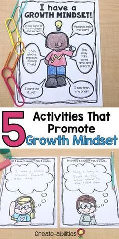 5 Activities That Promote Growth Mindset
