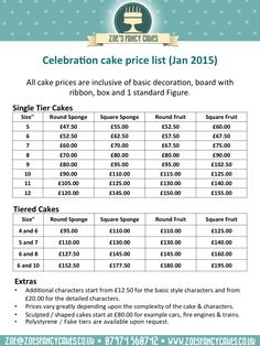 wedding decorator prices image detail for cake price list cakes 9174