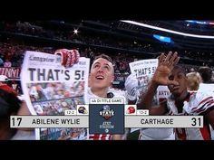 DCTF Instant Recap: Carthage 31, Abilene Wylie 17 - YouTube