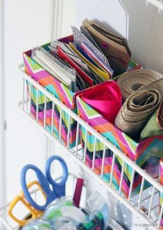UHeart Organizing: Shut the Craft Door One of my favorite things to do is to curl up with a cozy blanket, a cup of coffee and a good storage book or magazine. Flipping through pa. Craft Room Decor, Craft Room Storage, Home Decor, Storage Ideas, Craft Rooms, Storage Solutions, Craft Space, Door Storage, Closet Storage