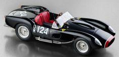 1958 Ferrari 250 Testa Rossa in Black Start #DM 124 diecast car model by CMC in 1:18 Scale