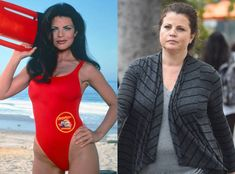 Yasmine Bleeth from Baywatch Stars, Then and Now Pamela Andersen, Yasmine Bleeth, Nash Bridges, Stars Then And Now, Baywatch, Celebs, Celebrities, Big Hair, Celebrity News