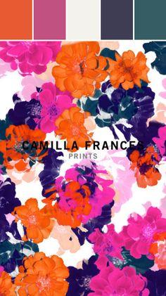 Camilla Frances Floral Print Designed By Lisa Perrone | Stylyze Creative Director via Stylyze  #colourpalettesilove