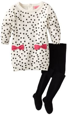 Apparel: Isaac Mizrahi Baby-Girls Infant Sweater Knit Polka-Dot Dress With Tight: Buy New: $46.13
