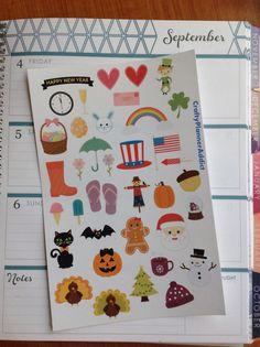 Year Round Sampler Sticker Sheet
