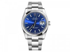 Rolex Datejust Blue Index Dial Oyster Bracelet Mens Watch 116200BLSO