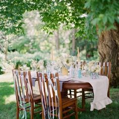 Six creative uses for ribbon at your wedding. (Photo by Emily Steffen Photography)