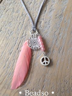 Dream Feather lange ketting #ibiza #style #necklace #peace