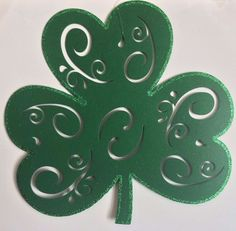 "Felt Shamrock 16.5""x16"": St. Patricks Decorations Placemats Wreaths DecoMesh  