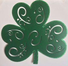 "Felt Shamrock 16.5""x16"": St. Patricks Decorations Placemats Wreaths DecoMesh  | eBay"