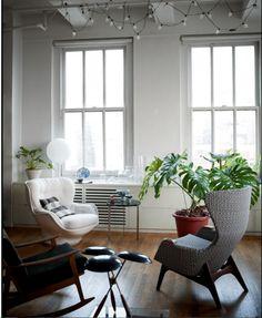 Living Room with #70s Atmosphere | #Retro #Design | Manhattan, New York