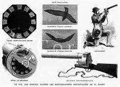 Étienne-Jules Marey, foi importante para o cinema. Não foi um fotografo, mas usa a fotografia para o auxilio da ciência. Revolver fotográfico - aparelho para captação de imagens que descrevem um movimento. Obtia essas imagens a premir o gatilho. Um dos porque´s, era estudar a Locomoção dos animais.