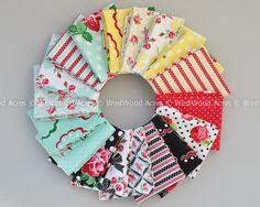 Retro Florals fabric layout image