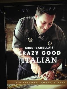"Crazy Good Italian, by Mike Isabella – an appealing cookbook without the words ""cookbook,"" ""recipes,"" or ""food"" anywhere to be found. Best Book Covers, Small Plates, Cookbook Recipes, Good Books, Words, Great Books, Horse"