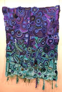 """""""My Awakening,"""" a free-form crochet piece by Cheryl Hopper placed second in the nonprofessional design contest at the Crochet Guild of America's 2017 National Convention in Chicago. It also was selected the People's Choice Award winner by crochet enthusiasts from throughout the United States."""