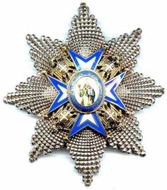 The OMSA Medal Database - Order of St.Sava Grand Officer breast star 3rd type - OMSA