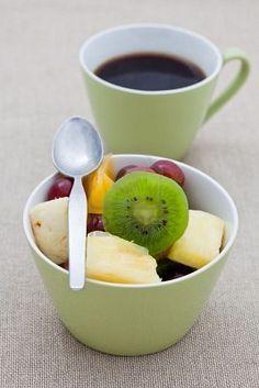 Caffè e #frutta a colazione