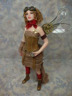 steampunk fairy doll! Love this one especially for the dragonfly