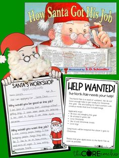 How Santa Got His Job Read-Aloud and Activities that your students will LOVE!