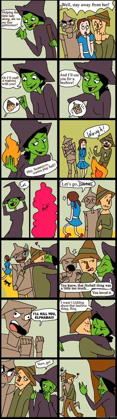I can totally believe that this was a deleted scene in the Wizard of Oz lol