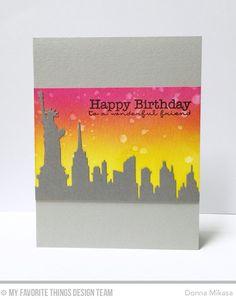 New York Skyline Die-namics, Pretty Poppies Stamp Set - Donna Mikasa  #mftstamps