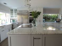 grey painted shaker cabinets | The cabinets are shaker style, with the perimeter cabinets a true ...