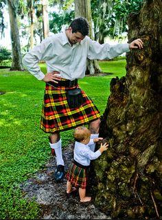Dad and son kilts