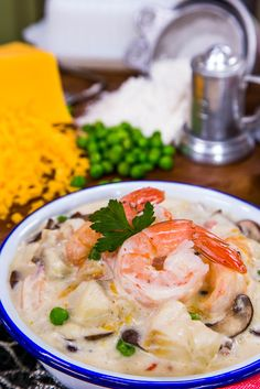 Warm up with this Seafood Chowder from @taste_of_home! Tune in to #homeandfamily weekdays at 10/9c on Hallmark Channel!