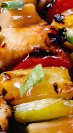 Sweet and Sour Hawaiian Chicken Kabobs