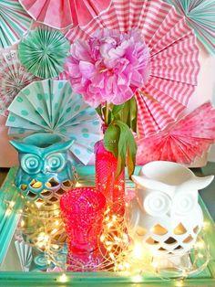 Love these decorations at an Owl Birthday Party! Owl Parties, Owl Birthday Parties, Girl Birthday, Birthday Ideas, Teacher Desks, Classroom Teacher, Kindergarten Classroom, Classroom Decor, Party Gifts