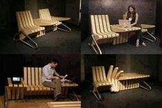Amazing creative seat come table designer furniture interior