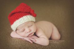 Newborn knit long tail knotted hat by Sheepcantknit on Etsy