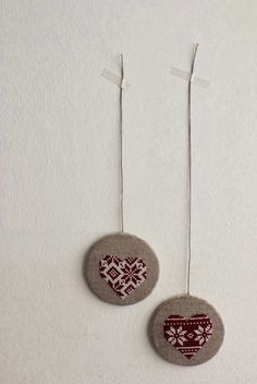 Luli free cross stitch pattern ornaments