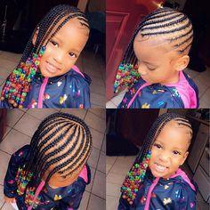 Braids For Kids Black Cornrow African Americans Girl Hairstyles 53 Ideas Braids For Kids Black Cornr Toddler Braided Hairstyles, Toddler Braids, Lil Girl Hairstyles, Natural Hairstyles For Kids, Braids For Kids, Girls Braids, Kids Hairstyle, Kids Braids With Beads, Children Hairstyles
