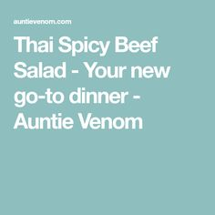Thai Spicy Beef Salad - Your new go-to dinner - Auntie Venom
