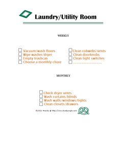 laundry room chore chart