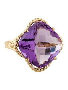 14K Amethyst Quatrefoil Cocktail Ring
