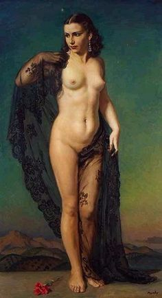 Andalusian Venus by George Owen Wynne Apperley Figure Painting, Figure Drawing, Painting & Drawing, Life Drawing, Aphrodite, Venus, Art Beauté, Portraits, Art Model