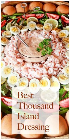 For any green salad, enjoy homemade Best Thousand Island Dressing, made with simple ingredients. Delicious on a shrimp louie salad or on burgers! Corn Salad Recipes, Salad Dressing Recipes, Sauce Recipes, Cooking Recipes, Avocado Recipes, Dip Recipes, Cooking Tips, French Salad Dressings, Homemade Dressing